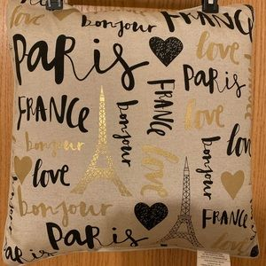 Parisian Motif Throw Pillows